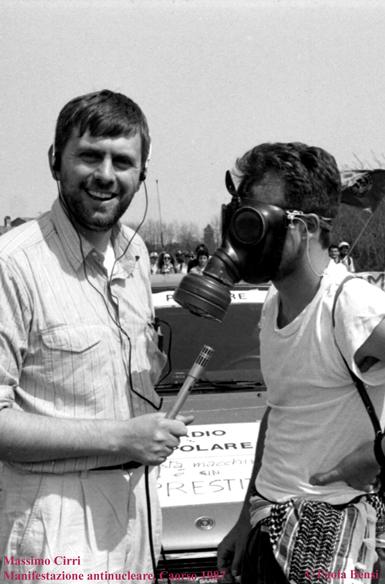 Massimo Cirri, manifestazione antinucleare